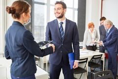 Handshake between business partners. As sign of cooperation royalty free stock photography