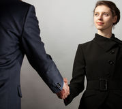 Handshake of business partners Royalty Free Stock Photos
