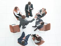Handshake business partners at the meeting. royalty free stock photography