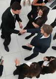 Handshake business partners before the start of the business mee Royalty Free Stock Images
