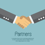 Handshake business partners. Vector ESP 10 Stock Photo