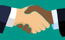 Handshake of business partners.Vector flat style illustration. vector illustration
