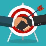 Vector business partnership illustration. Handshake. Handshake, business partnership. Symbol of success deal, happy business partnership, agreement. Flat design Royalty Free Stock Photo