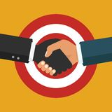 Handshake, business partnership. Symbol of success deal, happy b. Vector business partnership illustration. Handshake. Symbol of success deal, happy business Royalty Free Stock Photography
