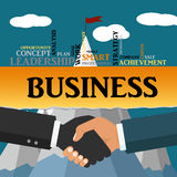 Handshake, business partnership. Symbol of success deal Stock Images