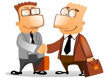 Handshake business people Stock Photos