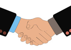 Handshake of business people as a result of transaction. Royalty Free Stock Photography