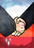 Handshake. Business people, and closing stock illustration