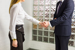 Handshake and business people Stock Photo