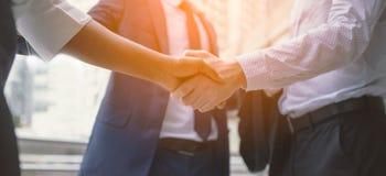 Handshake of business People stock image