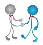 Handshake business people logo Stock Photography