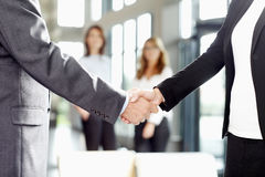 Handshake. Business people handshake at office stock image