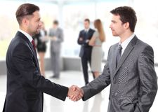 Handshake. business people shaking hands. Business people shaking hands over a deal Stock Photo