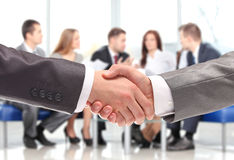 Handshake. business people shaking hands Royalty Free Stock Photography