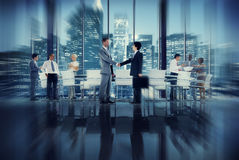 Handshake Business People Team Teamwork Meeting Conference Conce Stock Images