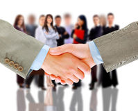 Handshake and business team Royalty Free Stock Images