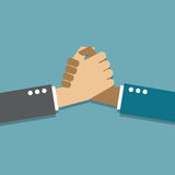 Handshake. Business handshake, teamwork concept, illustration Stock Illustration