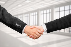 Handshake businessman and business woman Royalty Free Stock Image