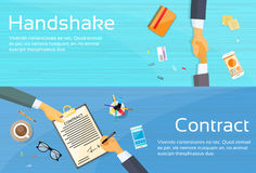 Handshake Businessman Contract Sign Up Paper Stock Images