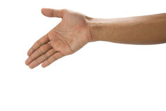 Handshake. Businessman offering for handshake background Royalty Free Stock Image