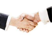 Handshake. Businessman shaking  hands with partner Stock Image
