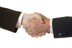 Handshake of businessmen Stock Photos