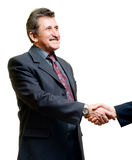 Handshake businessmen. Isolated on white Royalty Free Stock Photo