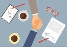 Handshake of businessmen. Flat vector image Royalty Free Stock Photos