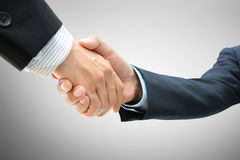 Handshake of businessmen. Greeting , dealing, merger & acquisition concepts Stock Photography
