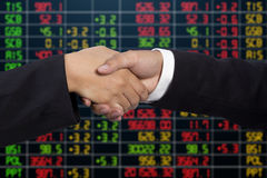 Handshake of businessmen - success, congratulation, greeting Stock Photo