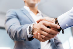 Handshake of businessmenoncepts - soft focus Stock Images