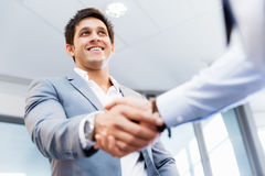 Handshake of businessmenoncepts - soft focus Royalty Free Stock Photo