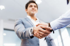 Handshake of businessmenoncepts - soft focus Stock Image