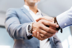 Handshake of businessmenoncepts - soft focus Royalty Free Stock Images