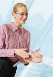 Handshake of businesspeople Stock Images