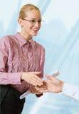 Handshake of businesspeople Stock Images