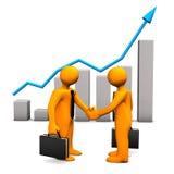 Handshake Chart Success Royalty Free Stock Photos