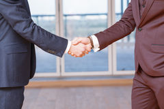 Handshake close up Stock Photography