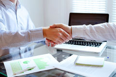 handshake close up in office background Stock Images