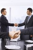 Handshake in closeup Stock Photos