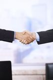 Handshake in closeup Royalty Free Stock Image