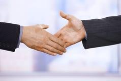 Handshake in closeup Royalty Free Stock Images