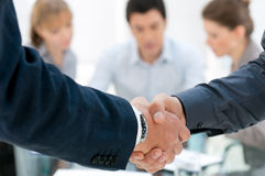 Handshake closeup Royalty Free Stock Image