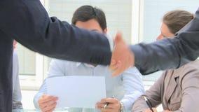 Handshake closeup stock video