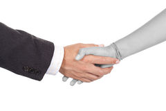 Handshake in color and black and white Royalty Free Stock Photo