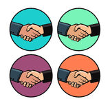 Handshake_color Stock Image