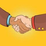 Handshake comics concept Royalty Free Stock Image