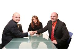 Handshake commitment stock photography