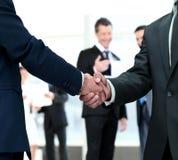 Handshake between competitors before the start of business negot Stock Photo