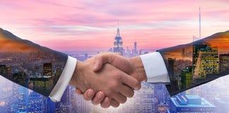 The handshake concept  - business metaphor illustration Stock Photos